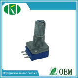 potentiomètre rotatoire de 9mm avec l'arbre en métal pour l'autoradio