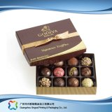 Boîte de empaquetage à chocolat de sucrerie de bijou de cadeau de Valentine avec la bande (XC-fbc-026)