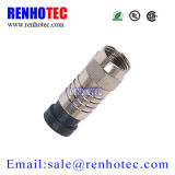 RG6 cable coaxial Tipo Crimp F Conector macho
