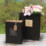 Sacos luxuosos do presente do preto da forma para a compra