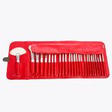 Ziege-Haar-kosmetisches Pinsel-Set der Klugheit-26PCS mit rotem PU-Kasten