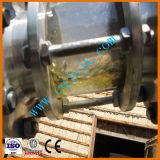 Olio usato che ricondiziona il nero del cambiamento all'olio residuo giallo che ricicla macchina