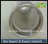 Filtri dalla rete metallica dell'acciaio inossidabile, filtro perforato dal cilindro delle 304 maglie