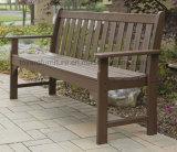 Banco di sosta di legno di Polywood 3 Seater di stile del giardino esterno americano tradizionale della vigna (P232)