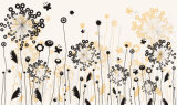 Prix à bas prix Vente Design élégant Design moderne à fleurs Design à l'huile