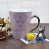 Tasse de café personnalisée en céramique bon marché de tasse de cuvette de thé avec amour
