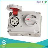 16A que Waterproofing o soquete fêmea com interruptor e bloqueio mecânico