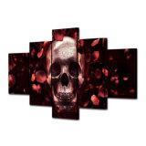 HD afgedrukt het Schilderen van de Schedel Volledig Onderzoek van Rozen Canvas mc-091 van het Beeld van de Affiche van het Af:drukken van het Decor van de Zaal van het Af:drukken van het Canvas