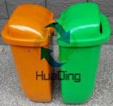 escaninhos de lixo plásticos coletados de Standed da rua 50L lixo Waste sanitário