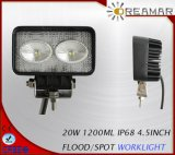 20W 1200lm Luz de trabajo 4.5inch Pi68 LED para la conducción de coches