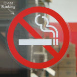Die Cut Não Smoking Static Glass Window Cling Decals