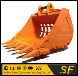 Cubeta de esqueleto da máquina escavadora da construção, cubeta da SHIFT da máquina escavadora