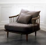 (SD-6005-2) Moderne Art-Hotel-Wohnzimmer-Freizeit-hölzernes Gewebe-Sofa-Set