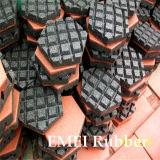 Baldosa hexagonal de goma para el jardín