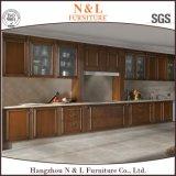 Neuer Entwurfs-festes Holz-Küche-Schrank der N&L Möbel-2016