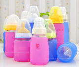 Zoll-BPA-Freies Gleitschutzsilikon-Glasbaby-Flaschen-Hülse