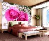 ベッド部屋のための良質の壁の装飾の美しい段階的花模様の壁紙