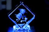 máquina de gravura de cristal Hsgp-4kb do laser do cubo do retrato 3D com certificado do CE