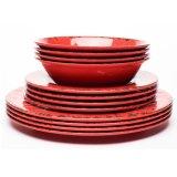 Vaisselle réglée de plaque de cuvette de porcelaine de vaisselle Crack d'imitation
