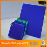 Лист просвечивающего голубого перспекса цвета пластичный акриловый