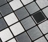 Стена серебра Wiredrawing мозаики металлическая кроет украшение черепицей Backsplash кухни стикера DIY нутряное домашнее