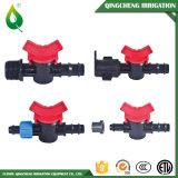 Válvula de las guarniciones de la irrigación de la agricultura mini para la cinta del goteo