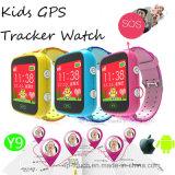 """Dispositif de suivi GPS Watch de sécurité pour enfants avec un écran coloré de 1,44 """"(Y9)"""