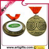 Medalla retra del metal del diseño con la cinta modificada para requisitos particulares