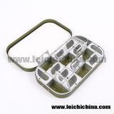 Caixa de alumínio da mosca de Comparments da cor verde 16