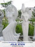 Statua di pietra granito e della figura e dell'animale naturali del marmo/scultura per il giardino e la decorazione esterna (XJL-SS004565)