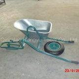Carrinho de mão de roda galvanizado única roda da bandeja