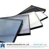 Vidrio aislado E inferior ahorro de energía para el vidrio del edificio