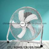 """18 """" Ventilator van de Vloer van het Chroom de Bevindende met GS/Ce/Rohs"""