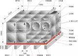 Tanque de água secional flexível isolado GRP do tanque de água GRP de FRP