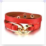 De Juwelen van het Leer van de Armband van het Leer van de Juwelen van het roestvrij staal (LB511)