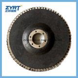Nueva rueda abrasiva fundida Brown diseñada de la solapa del alúmina