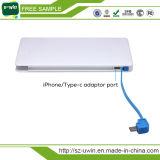Batería de la potencia con el adaptador del iPhone del cable de la entrada de información y de la salida, mecanismo impulsor del flash del USB de OTG