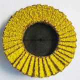 Mini disco di ceramica giallo della falda