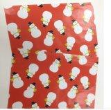 Papel de empaquetado del regalo con los diseños de Cutom