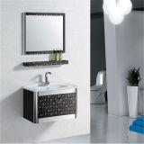 Mobilia all'ingrosso della stanza da bagno della parete dell'acciaio inossidabile con lo specchio