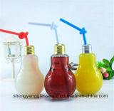 Tarro de cristal de la venta del regalo promocional caliente de la Navidad/taza de consumición del masón de la botella de cristal