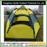 Barraca ambiental de acampamento superior do hexágono da promoção de 4 pessoas auto