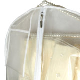 Прозрачный PVC и Non сплетенный мешок одежды застежки -молнии крышки платья венчания