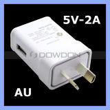 Au-Stecker USB-Wand-Aufladeeinheits-Arbeitsweg-Adapter für Rand Samsung-S3 S4 S5 S6 S7, notiert 2 3 4 5