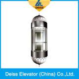 Elevador panorâmico de vidro Sightseeing da observação da movimentação da tração de Vvvf