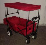 赤い新しい折りたたみ折りたたみの屋外の実用的なワゴン