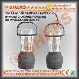 携帯用太陽動力を与えられた60のLEDのキャンプのランタン2の照明モードUSBのアウトレットの振動ハンドルのハングのホック