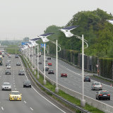 Bluesmart Luz al aire libre Solar LED luces de calle con panel solar