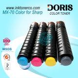 Cartucho de toner de la copiadora del color Mx70 Mx5000n 5500n 6200n 7000n para el sostenido