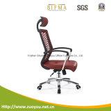 Cadeira de couro ergonómica elevada de escritório traseiro do projeto da forma (cinza de A616E)